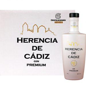 Caja 6 botellas Herencia de Cádiz Gin Premium